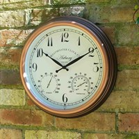 Outside-In Astbury 15in Wall Clock and Thermometer (5060011)