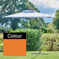Supremo Riviera 3.0m Free-Arm Outdoor Garden Parasol in Orange