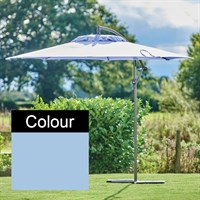 Supremo Riviera 3.0m Free-Arm Outdoor Garden Parasol in Cornflower Blue