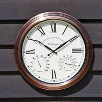 Outside-In Mollington 15in Wall Clock and Thermometer (5062010)