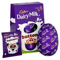 Cadbury Chocolate Buttons Egg Medium 128g
