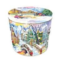 Granducale Panettone Round 4 Christmas Tin - 1kg (Design 1)
