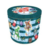 Granducale Panettone Round 4 Christmas Tin - 1kg (Design 2)