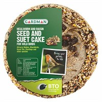 Gardman Mealworm and Raisin Seed and Suet Mini Cake 750g (A04272)