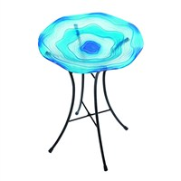 Gardman Blue Glass Bird Bath (A04374)