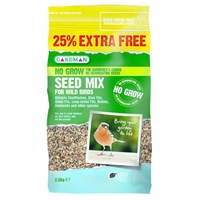 Gardman No Grow Seed Mix 2kg + 25% Extra Free (A06567AD)