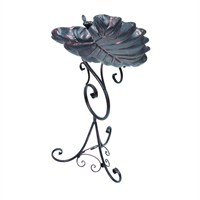 Gardman Decorative Leaf Bird Bath - Bronze (A09701)