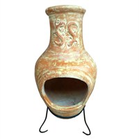 Charles Bentley Large Clay Chimenea Lizard Design (BBQ/CLAY/CHM.03) DIRECT DISPATCH