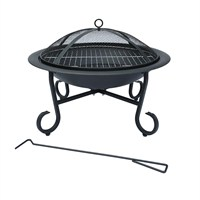Charles Bentley 56cm Medium Enamelled Steel Fire Pit (BBQ/FP.01) DIRECT DISPATCH