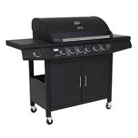 Charles Bentley 7 Burner Premium Gas BBQ in Black (BBQ16BLK) DIRECT DISPATCH