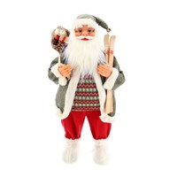 Cheng Kuo Standing Santa With Bag & Skis - 32in/80cm (CK606-K334)
