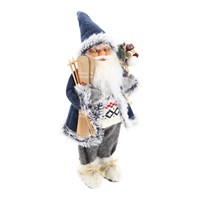 Cheng Kuo Standing Santa With Bag & Skis - 18in/46cm (CK606-K451)