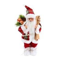 Cheng Kuo Standing Santa With Bag & Skis - 12in/30cm (CK616-K311)