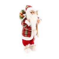 Cheng Kuo Standing Santa With Bag & Skis - 18in/46cm (CK616-K312)
