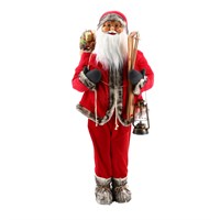 Cheng Kuo Standing Santa with Ski & Lantern (Red) - 60in/152cm (CK616-K414)
