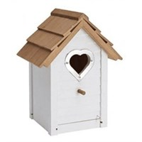 Gardman Decorative Heart Hole Wild Bird Nest Box (D01688)