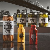 Dino's Hot Dog Deal with Ketchup, Mustard and Chilli Stacker Pickles