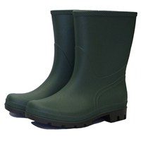 Town and Country Essentials Short Wellington Boots - Green