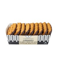 Farmhouse Biscuits Dark Chocolate Half Coated Ginger - 150g (FB021)