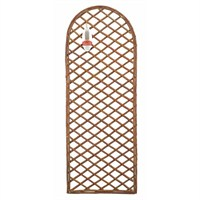 Gardman Framed Willow Trellis Panel with Curved Top - 1.2m x 0.45m (07522)