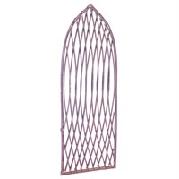 Gardman Framed Willow Lattice Trellis Panel with Gothic Top - 1.2m x 0.45m (07517)