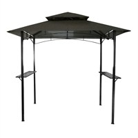 Charles Bentley 8 x 5 Ft Steel Gazebo in Grey (GL/GZ/BBQ.GR) DIRECT DISPATCH