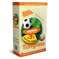 Johnsons Tuffgrass Lawn Seed 500g + 25% extra free 25sqm