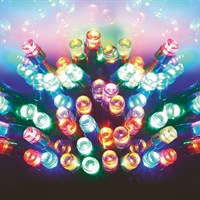Premier 100 Multi-Coloured LEDs with Timer (LB112383M) Battery Operated Christmas Lights