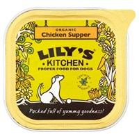 Lily's Kitchen Organic Chicken Supper Wet Dog Food Tray 150g