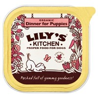 Lily's Kitchen Organic Dinner for Puppies Wet Dog Food Tray 150g