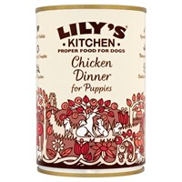 Lily's Kitchen Chicken Dinner for Puppies Wet Dog Food 400g