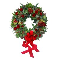 Christmas Luxury Door Wreath with Bow