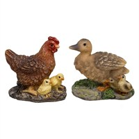 Vivid Miniature World Hen and Duck Family (MW04-001)