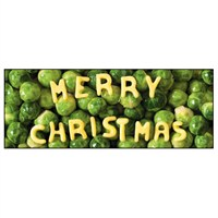 Noell Tatt 8 Pack Charity Christmas Cards - Brussel Sprouts - 7.5X20Cm (41540)