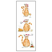 Noell Tatt 8 Pack Charity Christmas Cards - Christmas Cat - 7.5X20Cm (41547)
