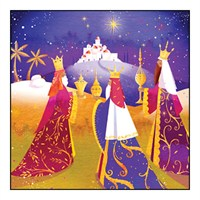 Noel Tatt 8  Pack Charity Christmas Cards - Three Wise Men - 12.5cm (41555)