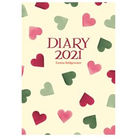 Otter House Emma Bridgewater Pink & Green Hearts A6 Diary 2021 (210391)
