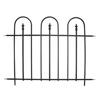 Panacea Triple Arch Finial Fence Section - Black (87500)