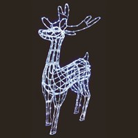 Premier 1.8m Acrylic Christmas Standing Reindeer with 360 White LEDs (LV161006)