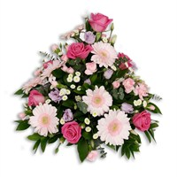 With Sympathy Flowers - Pink & Lilac Posy
