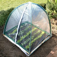 Popadome Cloche Cover for All-in-One Fruit and Vegetable Net Protection System 4 x 4ft