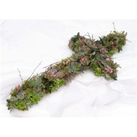 With Sympathy Flowers - Woodland Cross 3ft