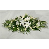 White Lily and Rose Double Ended Spray 2ft