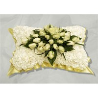 Cream Carnation Based Pillow 18inch
