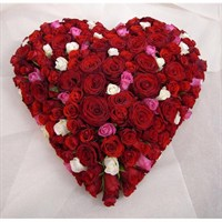 All Rose Based Heart 12inch