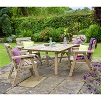 Zest 4 Leisure Abbey Square Table and 4 Chair Set (DIRECT DISPATCH)