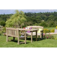 Zest 4 Leisure Emily Table and 2 Bench Set (DIRECT DISPATCH)