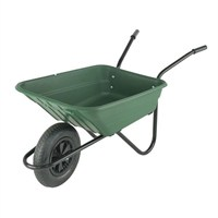 Walsall Wheelbarrow Co. - The Shire 90L Poly Pneumatic Green (SHGP)