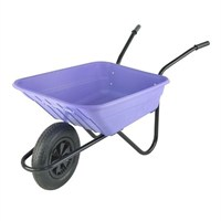 Walsall Wheelbarrow Co. - The Shire 90L Poly Pneumatic Lilac (SHLILP)