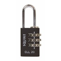 Squire 20mm Toughlok Combi Recodable Die Cast Combination Padlock - Luggage (CLL20)
